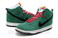 Кроссовки Nike Dunk High  (green-black)