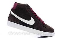 Кроссовки Nike Blazer High (darkbrown-violet), фото 1