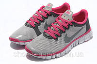 Женские кроссовки Nike Free 3.0 (grey-pink), фото 1