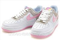 Женские кроссовки Nike Air Force (white-pink), фото 1