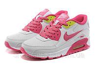 Женские кроссовки Nike Air Max 90 (white-pink), фото 1