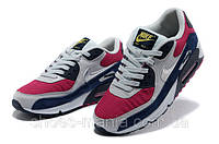 Женские кроссовки Nike Air Max 90 (red-blue-white), фото 1