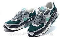 Женские кроссовки Nike Air Max 90 (green-silver-black), фото 1
