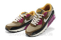 Женские кроссовки Nike Air Max 90 (brown-pink-black), фото 1