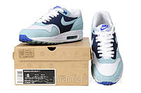 Женские кроссовки  Nike Air Max 87 (white-blue-violet), фото 1