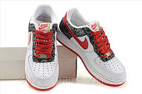 Женские кроссовки Nike Air Force (white-red-black)
