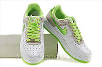 Женские кроссовки Nike Air Force (white-green)