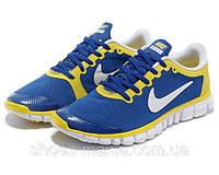 Женские кроссовки  Nike Free 3.0 (blue-yellow), фото 1