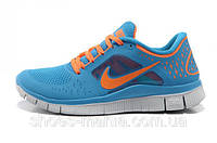 Женские кроссовки Nike Free 5.0 (blue-orange)