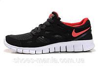 Мужские кроссовки Nike Free Run 2 (black-red)