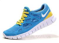 Мужские кроссовки Nike Free Run 2 (blue-yellow)