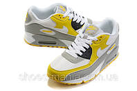 Женские кроссовки Nike Air Max 90 grey-yellow-white, фото 1