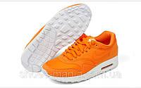 Женские кроссовки  Nike Air Max 87 оранжевые, фото 1