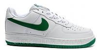 Женские кроссовки Nike Air Force бело-зеленые, фото 1