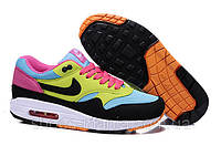 Женские кроссовки  Nike Air Max 87 (yellow-black-pink), фото 1