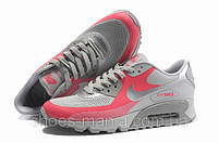 Женские кроссовки Nike Air Max 90 Hyperfuse (grey-pink)