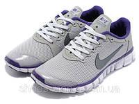 Женские кроссовки Nike Free 3.0 (grey-violet), фото 1
