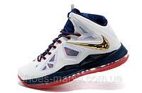 Баскетбольные кроссовки Nike Lebron (blue-white)