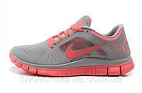 Женские кроссовки  Nike Free 5.0 серо-розовые, фото 1