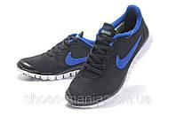 Мужские кроссовки Nike Free 3.0 (black-blue)