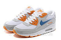 Женские кроссовки Nike Air Max 90 (white-orange), фото 1