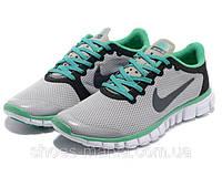 Женские кроссовки Nike Free 3.0 (grey-green), фото 1