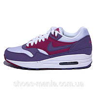 Женские кроссовки  Nike Air Max 87 (white-violet), фото 1