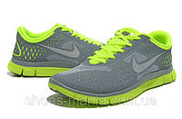 Мужские кроссовки Nike Free 4.0 (grey-green), фото 1