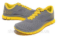 Мужские кроссовки Nike Free 4.0 (grey-yellow)