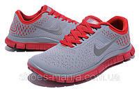 Мужские кроссовки Nike Free 4.0 (grey-red)