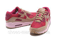Женские кроссовки Nike Air Max 90 (pink-red-brown), фото 1