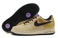 Женские кроссовки Nike Air Force желтые, фото 1