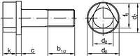DIN 22424 Болт с трехгранной головкой