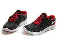 Женские кроссовки Nike Free Run 2 (черно-красные), фото 1
