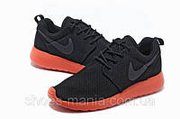 Женские кроссовки Nike Roshe Run (orange-black), фото 1