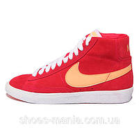Женские кроссовки Nike Blazer Mid (orange-red)