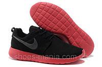 Женские кроссовки Nike Roshe Run (black-red)