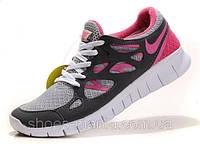 Женские Nike Free Run 2 (pink-grey-white), фото 1