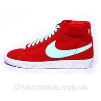Женские кроссовки Nike Blazer Mid (red-white)