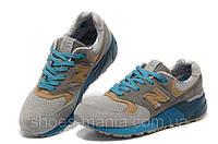 Женские кроссовки New Balance 999 (grey-blue-brown)