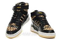 Женские кроссовки Adidas Forum Mid (black-leopard), фото 1