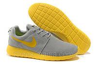 Женские кроссовки Nike Roshe Run (grey-yellow)