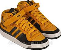 Женские кроссовки Adidas Forum Mid (black-yellow)