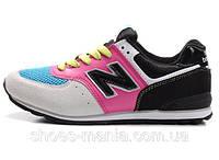 Женские кроссовки New Balance 576 (grey-pink-black), фото 1