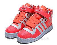 Женские кроссовки Adidas Forum Mid розовые, фото 1