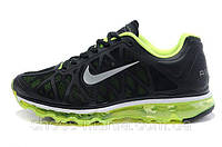 Женские кроссовки Nike Air Max 2011 (black-green)