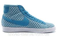 Женские кроссовки Nike Blazer Mid Mesh (blue), фото 1