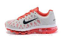 Женские кроссовки Nike Air Max 2011 (grey-red), фото 1