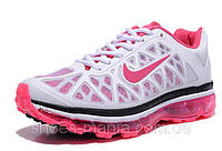 Женские кроссовки Nike Air Max 2011 (white-pink), фото 1