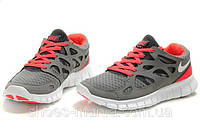 Женские кроссовки Nike Free Run 2 (pink-grey), фото 1